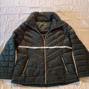 Michael Kors forest green downfill fall jacket XL